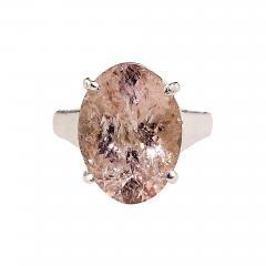 Gemjunky Sparkling Oval Morganite set in Sterling Silver Ring - 1960551