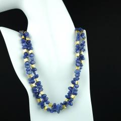 Gemjunky Sparkling Tanzanite Double Strand Necklace - 1647360
