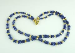 Gemjunky Sparkling Tanzanite Double Strand Necklace - 1647361