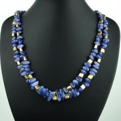 Gemjunky Sparkling Tanzanite Double Strand Necklace - 1647375