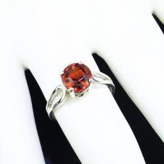 Gemjunky Spessartite Garnet in Sterling Silver Ring - 1939066