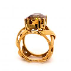 Gemjunky Statement Ring of Andalusite and 18K Yellow Gold - 1701243