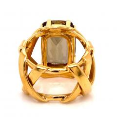 Gemjunky Statement Ring of Andalusite and 18K Yellow Gold - 1701245