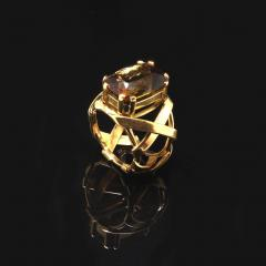 Gemjunky Statement Ring of Andalusite and 18K Yellow Gold - 1701246