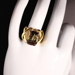 Gemjunky Statement Ring of Andalusite and 18K Yellow Gold - 1701247