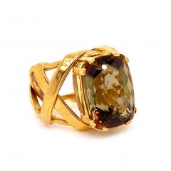 Gemjunky Statement Ring of Andalusite and 18K Yellow Gold - 1701253