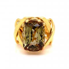 Gemjunky Statement Ring of Andalusite and 18K Yellow Gold - 1703183