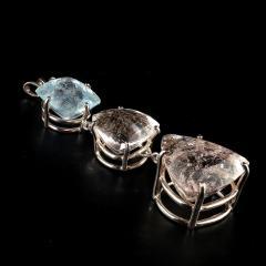 Gemjunky Statement Three Beryl Pendant in Sterling Silver - 1949331