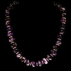 Gemjunky Translucent Rondelles of Amethyst Necklace February Birthstone - 1792361