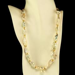 Gemjunky White Glowing Freshwater Pearl necklace - 1792391