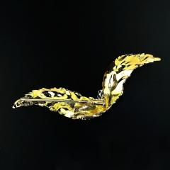 Gemjunky Yellow Gold Brooch with Diamonds - 1631518