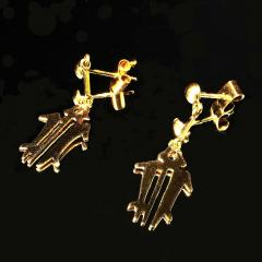 Gemjunky Yellow Gold NAZCA Lines Earrings - 1991177