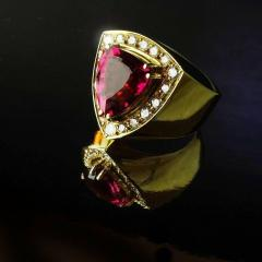 Gemjunky and Diamond 18K Yellow Gold Cocktail Ring - 1714894