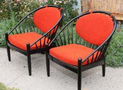 Gemla Pair of Mid Century Swedish Bent Beech Wood Hoop Chairs - 366032