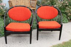 Gemla Pair of Mid Century Swedish Bent Beech Wood Hoop Chairs - 366033