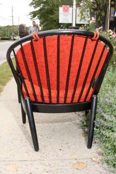 Gemla Pair of Mid Century Swedish Bent Beech Wood Hoop Chairs - 366034