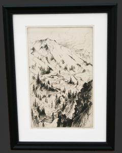 Gene Alice Geneva Glasier Kloss Mine and Mountain Sketch - 340321