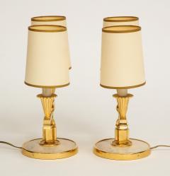 Genet et Michon ELEGANT PAIR OF ART DECO BRASS AND PARCHMENT TABLE LAMPS BY GENET MICHON - 1941447