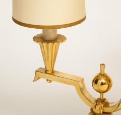 Genet et Michon ELEGANT PAIR OF ART DECO BRASS AND PARCHMENT TABLE LAMPS BY GENET MICHON - 1941449