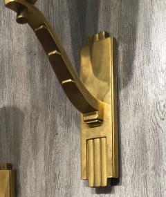 Genet et Michon Genet Michon exceptional quality gold bronze and alabaster 4 sconces - 1205535
