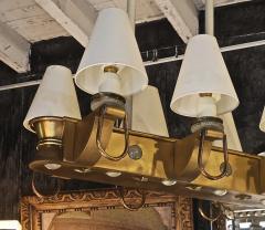 Genet et Michon Genet Michon rarest pair of gold 6 lights chandelier - 1247090