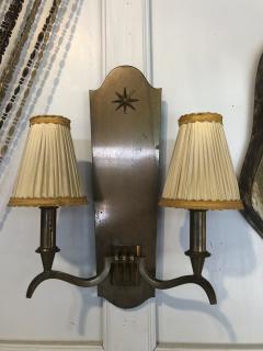 Genet et Michon Genet Michon vintage extreme quality bronze sconces - 1057622