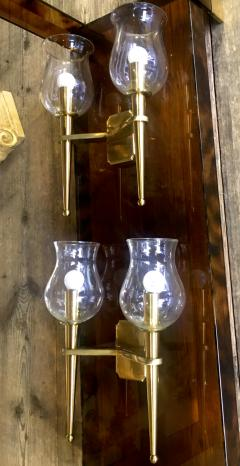 Genet et Michon Genet et Michon Extreme Quality Pair Solid Gold Bronze Sconces - 647279