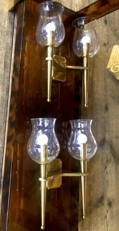 Genet et Michon Genet et Michon Extreme Quality Pair Solid Gold Bronze Sconces - 647280