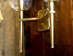Genet et Michon Genet et Michon Extreme Quality Pair Solid Gold Bronze Sconces - 647284