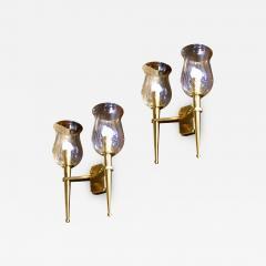 Genet et Michon Genet et Michon Extreme Quality Pair Solid Gold Bronze Sconces - 647762
