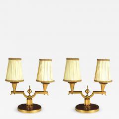 Genet et Michon Genet et Michon Pair of Gilt Bronze Lamps 1940 - 1592292
