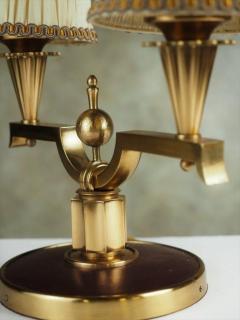 Genet et Michon Genet et Michon Pair of Gilt Bronze Lamps - 1570042