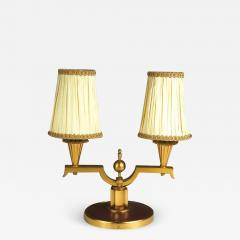Genet et Michon Genet et Michon Pair of Gilt Bronze Lamps - 1572555