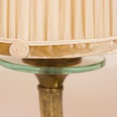 Genet et Michon Pair of Gilt Bronze Genet et Michon Lamps with Original Shades - 1892906