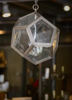 Geodesic Silvered Bronze Hanging Pendant Light - 212794