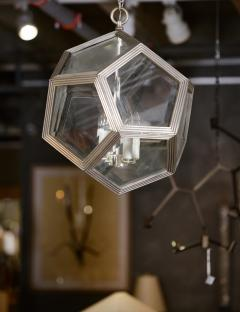 Geodesic Silvered Bronze Hanging Pendant Light - 212800