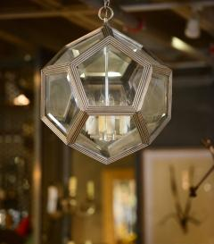 Geodesic Silvered Bronze Hanging Pendant Light - 212801