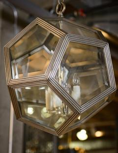 Geodesic Silvered Bronze Hanging Pendant Light - 212806