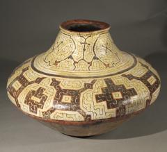 Geometric Ceramic Shibipo jar - 725311