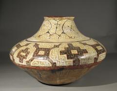 Geometric Ceramic Shibipo jar - 725312
