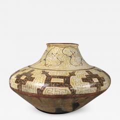 Geometric Ceramic Shibipo jar - 726020