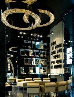 Georg Baldele GLITTERHOOP BLACK RIM crystal chandelier - 1509307