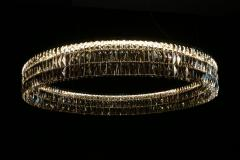 Georg Baldele GLITTERHOOP EMERALD minimalist crystal chandelier - 1446490