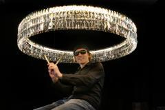 Georg Baldele GLITTERHOOP GOLDEN ANTIQUE minimalist crystal chandelier - 1446368