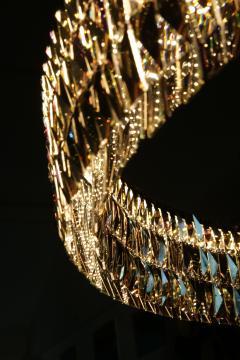 Georg Baldele GLITTERHOOP GOLDEN ANTIQUE minimalist crystal chandelier - 1446378