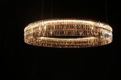 Georg Baldele GLITTERHOOP GOLDEN TEAK minimalist crystal chandelier - 1446700