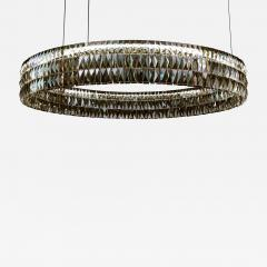 Georg Baldele GLITTERHOOP GOLDEN TEAK minimalist crystal chandelier - 1447666