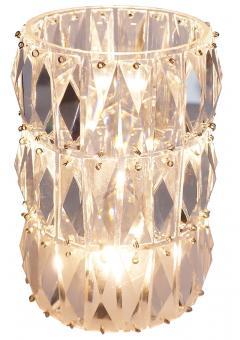 Georg Baldele GLITTERTUBE vertical crystal tube chandelier smaller version - 1509103