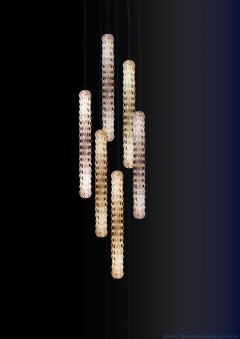 Georg Baldele GLITTERTUBE vertical crystal tube chandelier smaller version - 1509104
