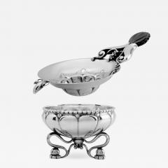 Georg Jensen Antique Georg Jensen Silver Tea Strainer 98 Stand 97 - 2089491